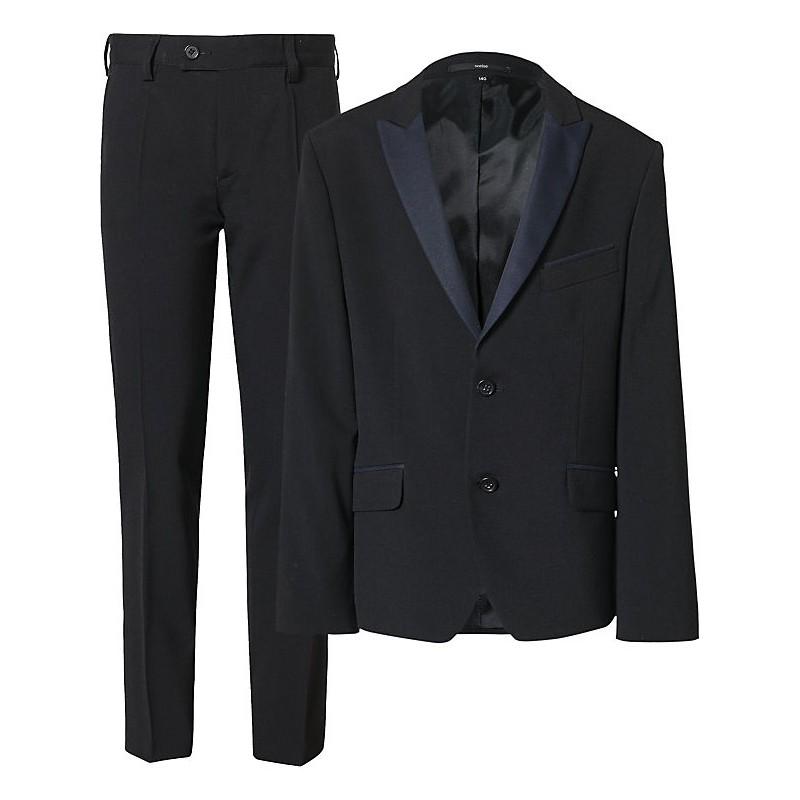 weise Slim Fit Kinder-Anzug blau   Festtagskinder.de Farbe ...