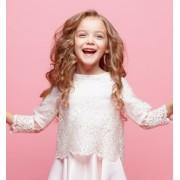 Kurzärmlige Blusen für Mädchen | Festtagskinder.de